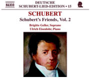 CD-Cover Franz Schubert, Schubert's Friends Vol. 2, Track 1